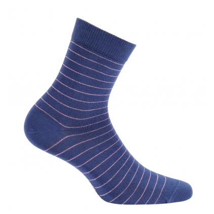 Dievčenské ponožky WOLA PRÚŽKY modré