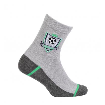 Chlapčenské ponožky so vzorom WOLA FUTBAL šedé