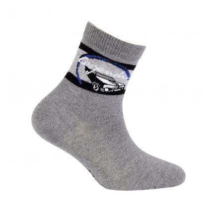 Chlapčenské ponožky s obrázkom WOLA LEGENDARY tmavo šedé