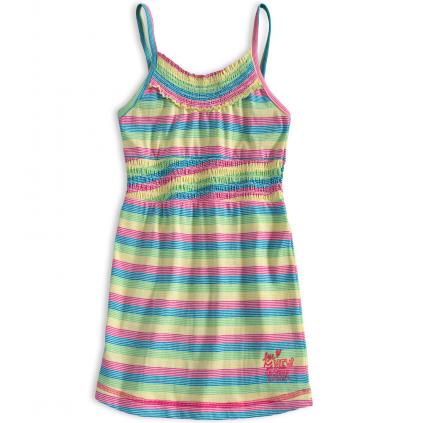 Dievčenské letné šaty PEBBLESTONE SUMMER modré prúžky
