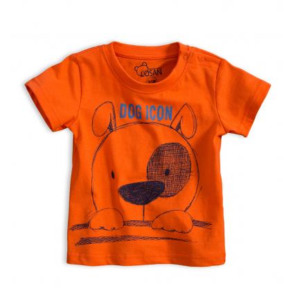 Detské tričko LOSAN PSÍČEK oranžové