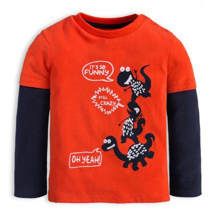 Chlapčenské tričko KNOT SO BAD CRAZY DINO oranžové