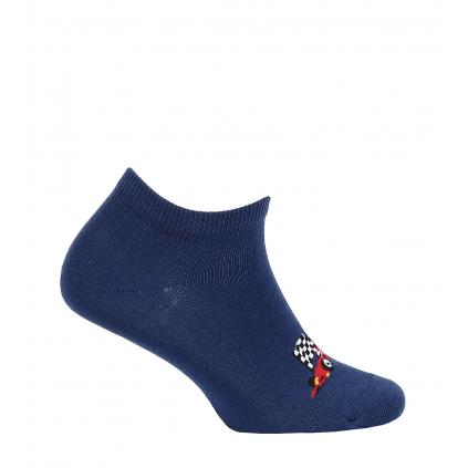 Detské členkové ponožky WOLA FORMULA tmavo modré