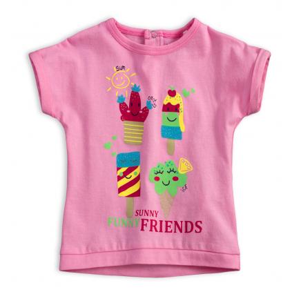 Detské tričko KNOT SO BAD FUNNY SUNNY ružové