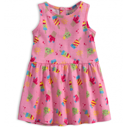 Dojčenské letné šaty KNOT SO BAD ICE CREAM ružové