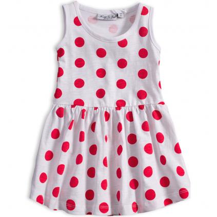 Dievčenské letné šaty KNOT SO BAD BODKY červené