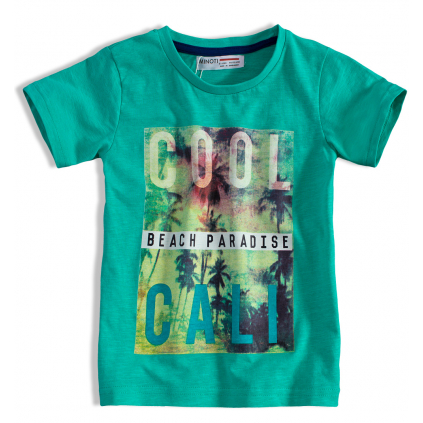 Detské tričko s potlačou MINOTI HEAT zelené