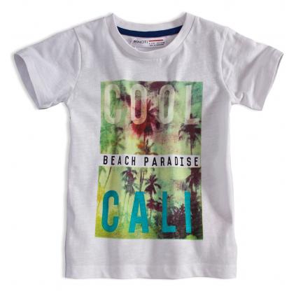 Detské tričko s potlačou MINOTI HEAT biele