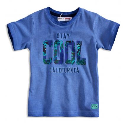Detské tričko krátky rukáv MINOTI STAY COOL modré