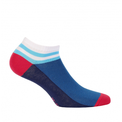 Dievčenské členkové ponožky WOLA PRÚŽOK modré