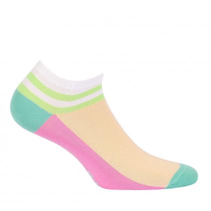 Dievčenské členkové ponožky WOLA PRÚŽOK ružové