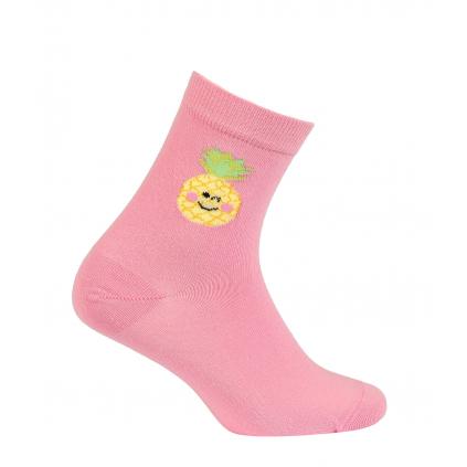 Dievčenské ponožky so vzorom WOLA ANANÁS ružové