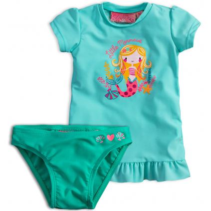Dievčenské plavky KNOT SO BAD MORSKÁ PANNA zelené