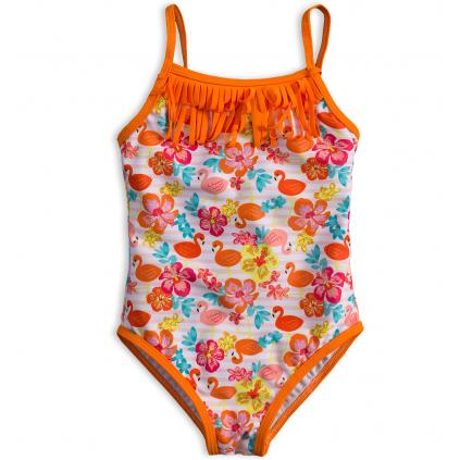 Dievčenské plavky vcelku KNOT SO BAD PLAMENIACI oranžové