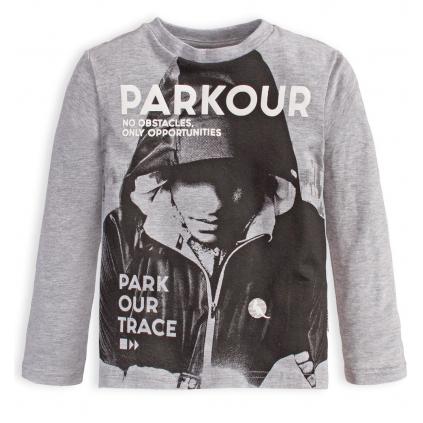 Chlapčenské tričko CANGURO PARKOUR TRACE šedé