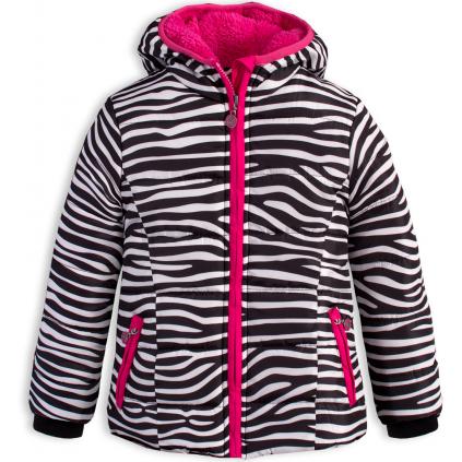 Dievčenská zimná bunda LEMON BERET ZEBRA prúžky