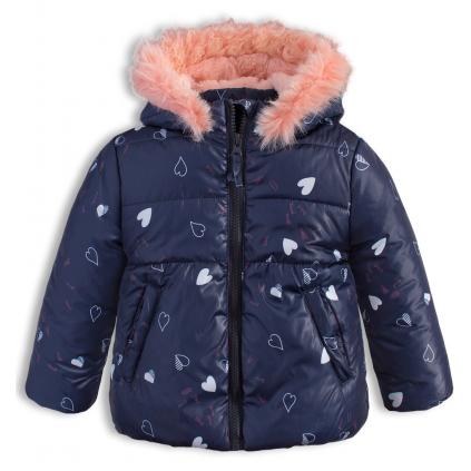 Dievčenská zimná bunda LEMON BERET SRDIEČKA modrá