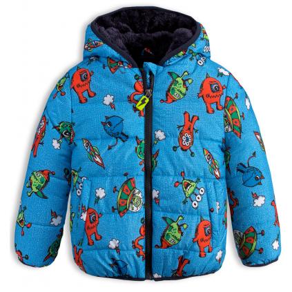 Chlapčenská zimná bunda LEMON BERET PRÍŠERKY modrá