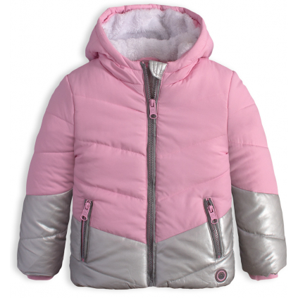 Dievčenská zimná bunda LEMON BERET  MAGIC ružová