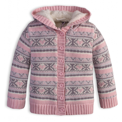 Dojčenský termo sveter DIRKJE SNOW ružový