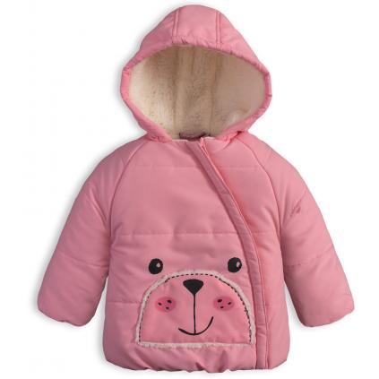 Detská zimná bunda KNOT SO BAD MEDVEDÍK ružová
