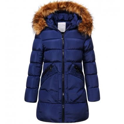 Dievčenský zimný kabát GLO STORY GIRL 96 tmavomodrý