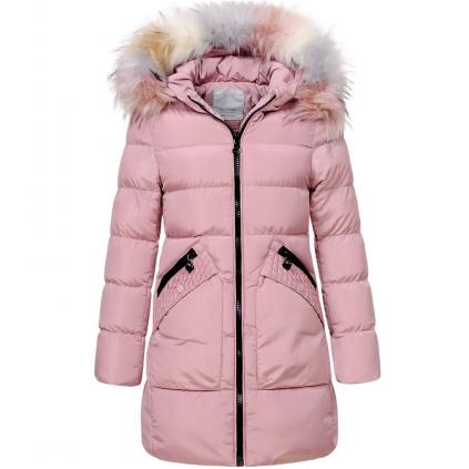 Dievčenský zimný kabát GLO STORY GIRL 96 svetloružový