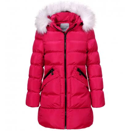 Dievčenský zimný kabát GLO STORY GIRL 96 tmavoružový