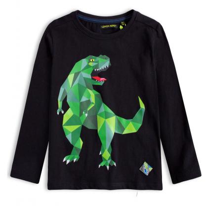 Chlapčenské tričko LEMON BERET DINOSAURUS čierne