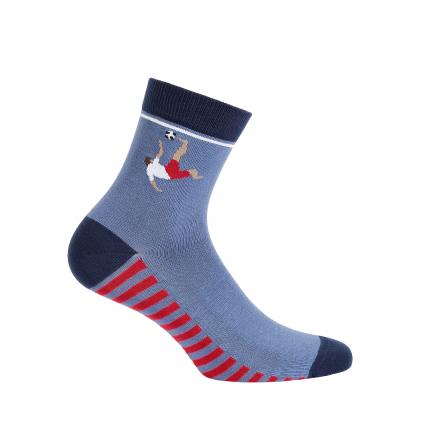 Vzorované chlapčenské ponožky WOLA FUTBALISTA modré
