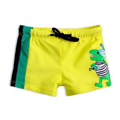 Chlapčenské plavky KNOT SO BAD PIRÁT DINO žlté
