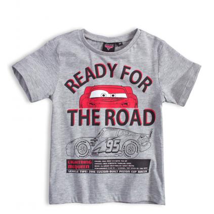Chlapčenské tričko Disney CARS AUTÁ ROAD šedé