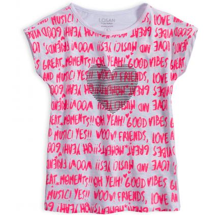 Dievčenské tričko LOSAN MUSIC biele