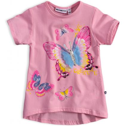 Dievčenské tričko Mix´nMATCH MOTÝĽ ružové