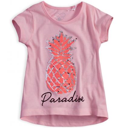 Dievčenské tričko KNOT SO BAD ANANÁS ružové