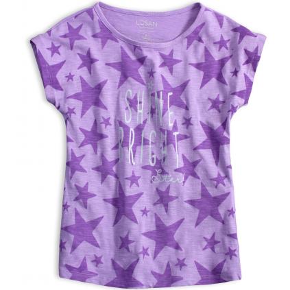Dievčenské tričko LOSAN HVIEZDY fialové