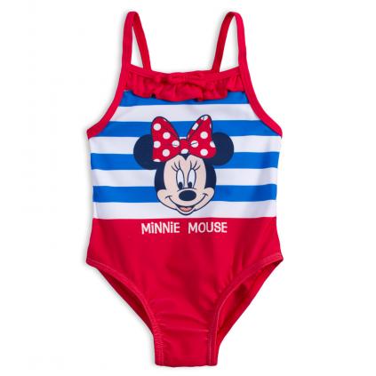 Jednodielne plavky pre dievčatá DISNEY MINNIE BABY červené