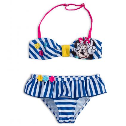Dvojdielne dievčenské plavky DISNEY MINNIE KVETINKY modré