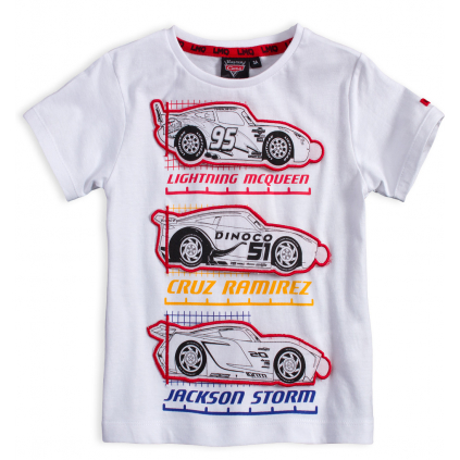 Chlapčenské tričko DISNEY CARS McQUEEN biele