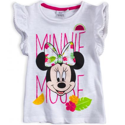 Dievčenské tričko DISNEY MINNIE FLOWERS biele