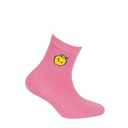 Dievčenské ponožky s obrázkom WOLA CITRON ružové