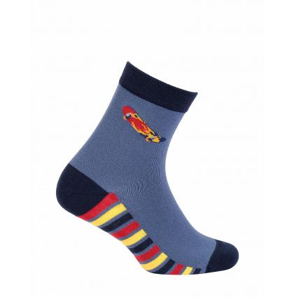 Chlapčenské vzorované ponožky WOLA SKATEBOARD modré