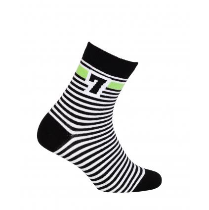 Chlapčenské vzorované ponožky WOLA SEDMIČKA čierne