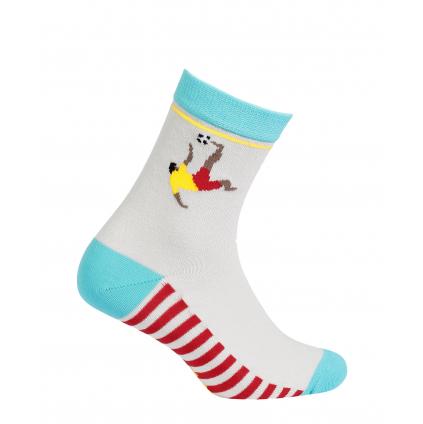 Vzorované chlapčenské ponožky WOLA FUTBALISTA šedé