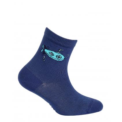 Chlapčenské vzorované ponožky WOLA PONORKA modré