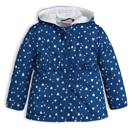 Dievčenská jarná bunda KNOT SO BAD SRDIEČKA modrá