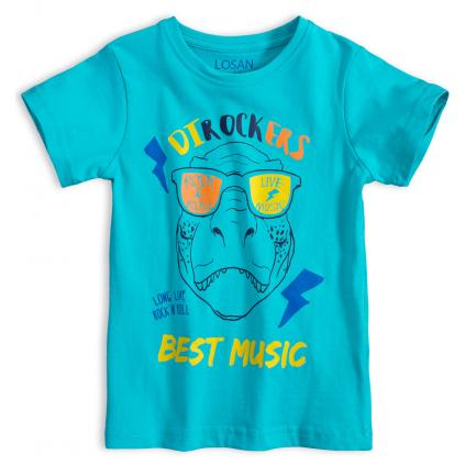 Chlapčenské tričko LOSAN DTROCKERS tyrkysové