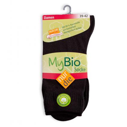 Dámske ponožky z bio bavlny NUR DIE čierne
