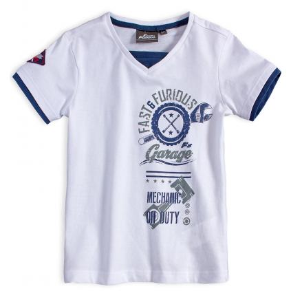 Chlapčenské tričko FAST&FURIOUS MECHANIC biele