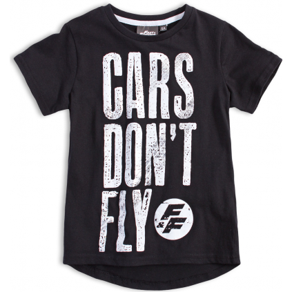 Chlapčenské tričko FAST&FURIOUS CARS DON´T FLY čierne